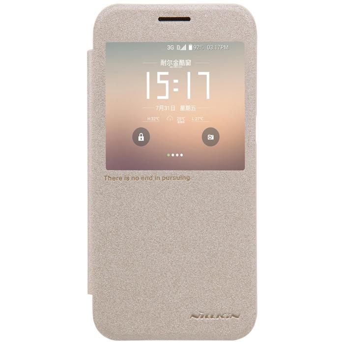 Чехол Nillkin Sparkle Leather Case для Samsung G930F Galaxy S7, золотистый