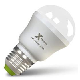 Светодиодная LED лампа X-flash Mini E27 4W 220V желтый свет, матовая колба