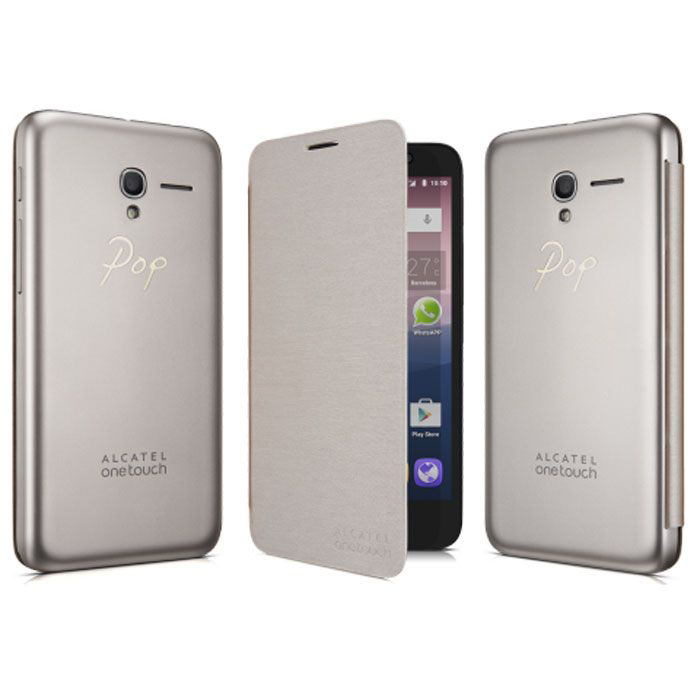 Чехол Alcatel Book-case для Alcatel One Touch 5025D Popi 3 Dual sim, золотистый