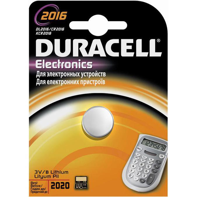 Батарейки Duracell DL2016/CR2016 display 3V Lithium B1 (1шт)