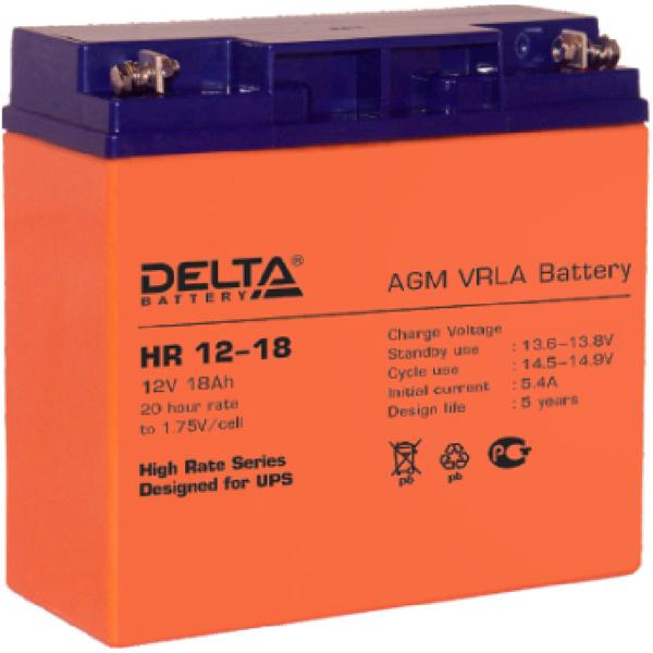 Батарея Delta HR 12-12 (12V 18Ah)