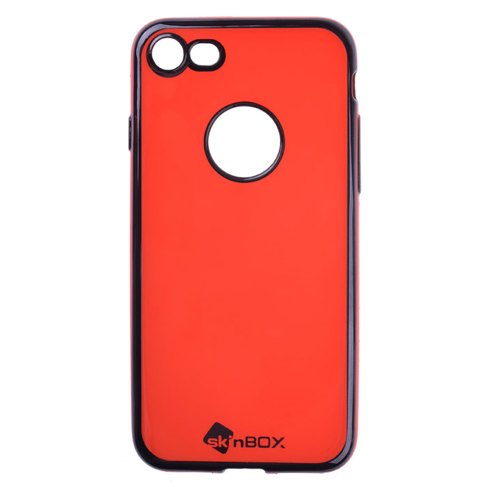 Чехол SkinBox, Силиконовая накладка для iPhone 7, красный
