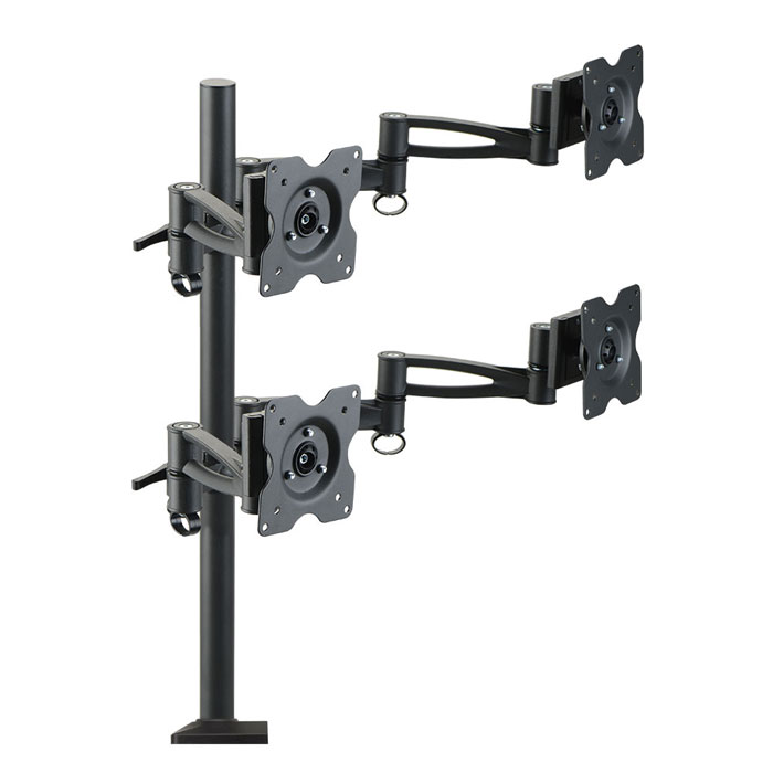 Кронштейн Kromax Office-4 Vesa до 100×100 15-32′ max 4×8кг black для четырех мониторов