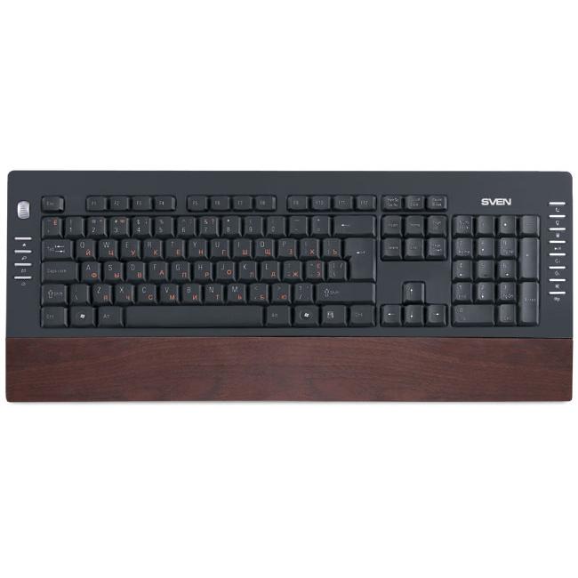 Клавиатура SVEN 4200 Comfort USB Wooden