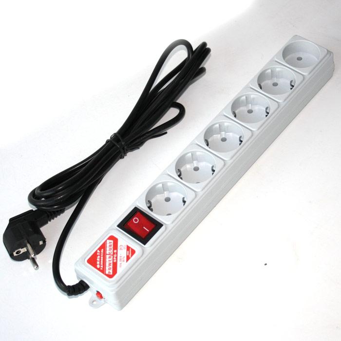 Сетевой фильтр Power Cube Pro 3.0м White защ. шторки