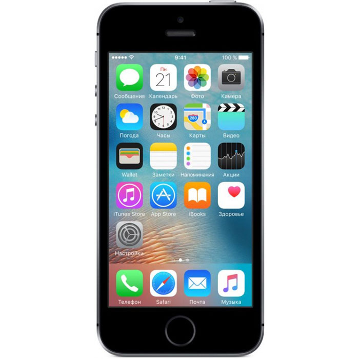 Смартфон Apple iPhone SE 32GB Space Gray (MP822RU/A)