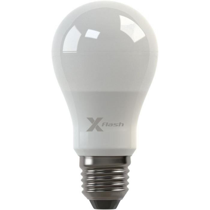 Светодиодная LED лампа X-flash Globe A55 E27 6W 220V 43408 желтый свет, матовая