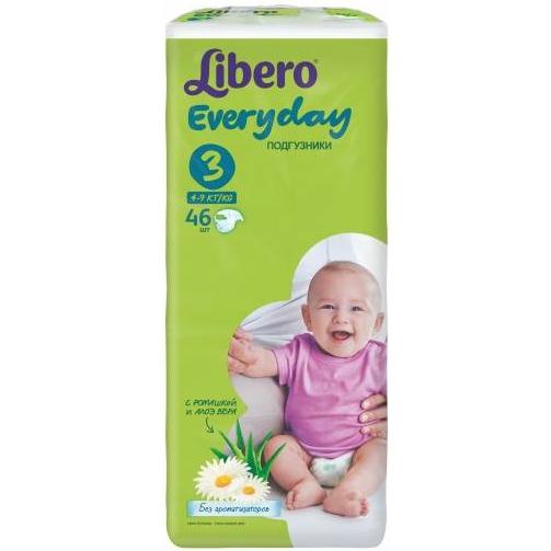 Подгузники Libero Everyday 4-9 кг (3) 46шт.