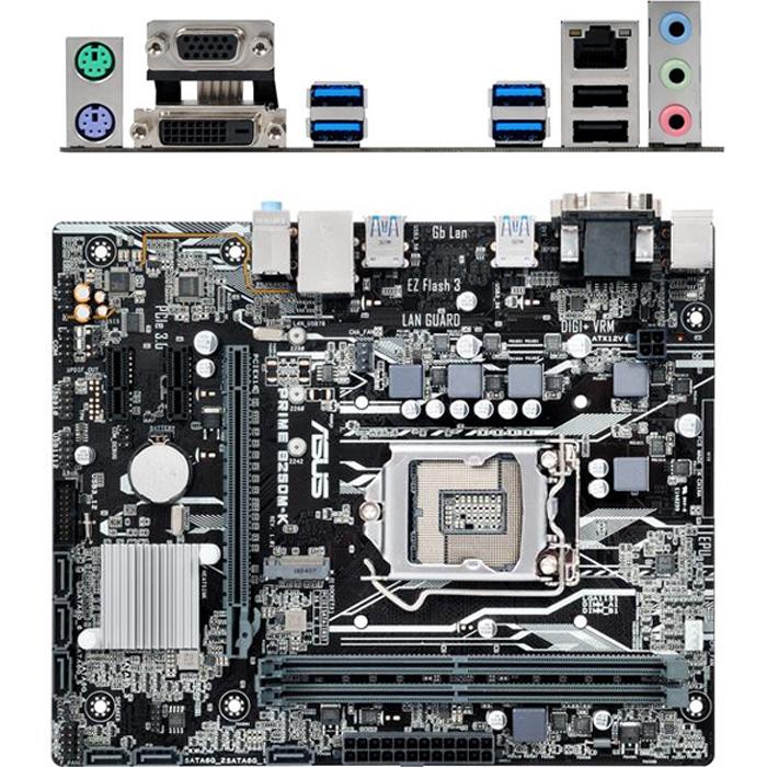 Материнская плата ASUS B250 LGA1151 DDR4 ( Prime B250M-K ) mATX, Ret