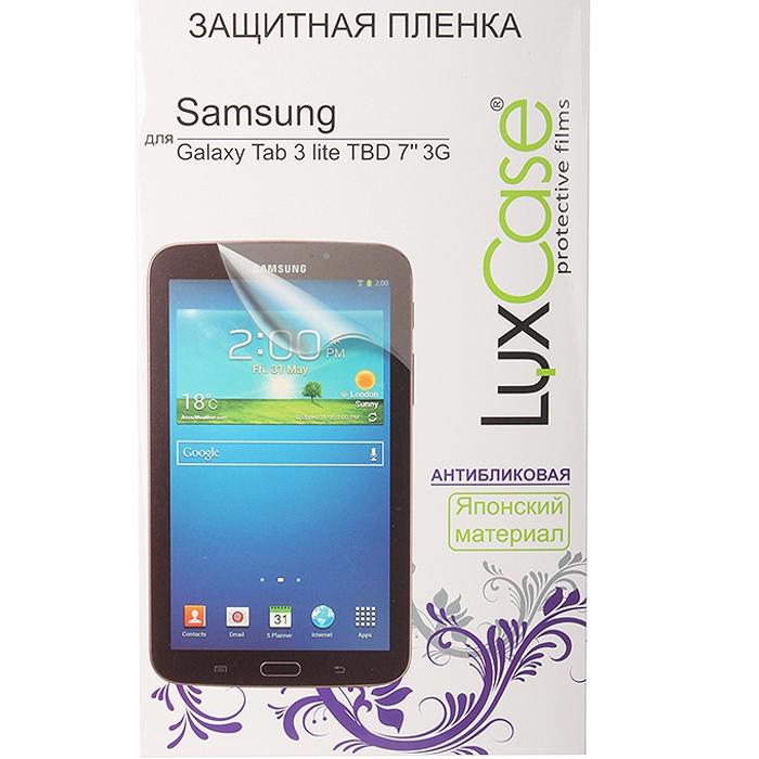Защитная плёнка Luxcase для Samsung SM-T110N\T111N\T113N\T116N Galaxy Tab 3 7.0 lite, Антибликовая