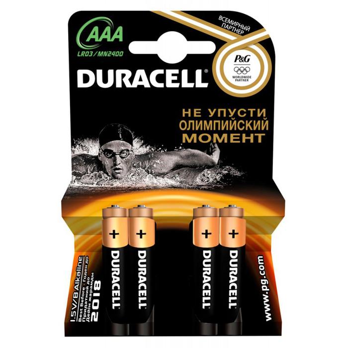 Батарейки Duracell LR03-4BL Basic AAA 4шт