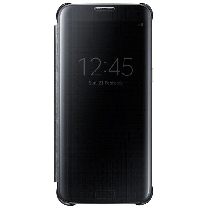 Чехол Samsung Clear View Cover для Samsung G935F Galaxy S7 edge, чёрный