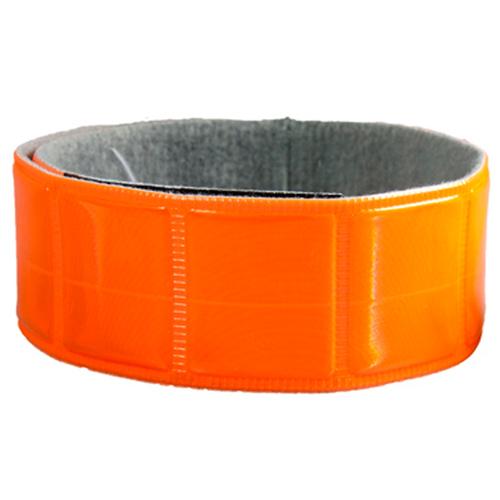 Браслет светоотражающий для пешеходов Partner на липучке, оранжевый