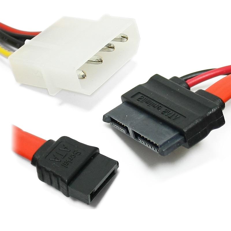 Кабель соед. Slimline SATA 6+7P/SATA 7P+power for miniITX case