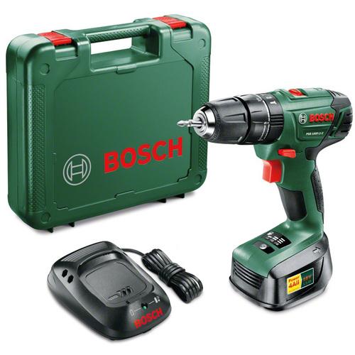 Аккумуляторная ударная дрель-шуруповерт Bosch PSB 1800 LI-2 1.5Ah x1 Case 06039A3320