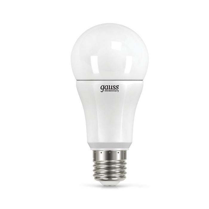 Светодиодная лампа Gauss Elementary A60 E27 12W 220V желтый свет