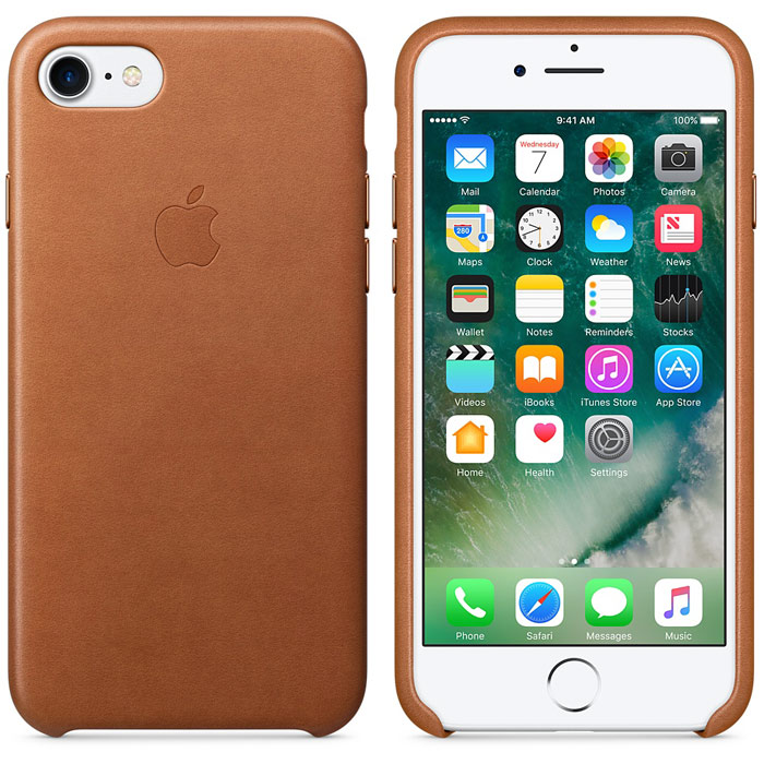 Чехол для Apple iPhone 7 Leather Case Saddle Brown MMY22ZM/A