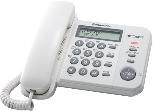 Телефон PANASONIC KX-TS2356RUW, белый