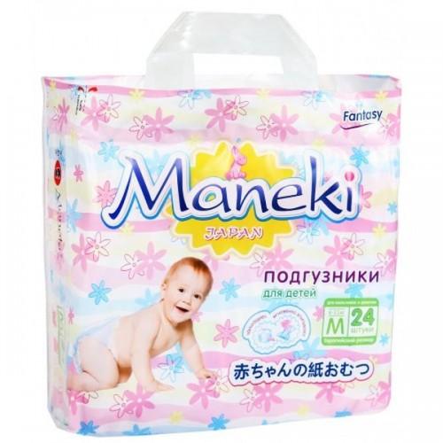 Подгузники Maneki Fantasy, размер М (6-11кг) mini 24 шт/уп