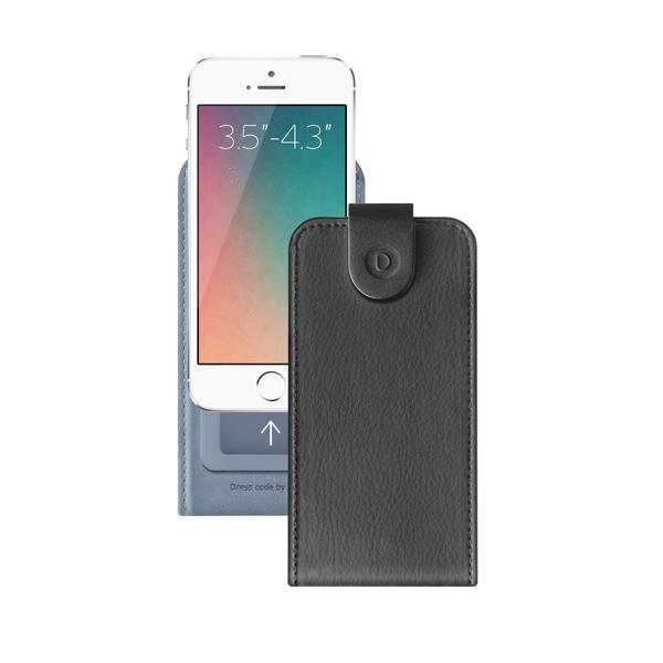 Чехол универсальный для сотовых телефонов 3.5″-4.3″ Deppa Flip Cover, черный