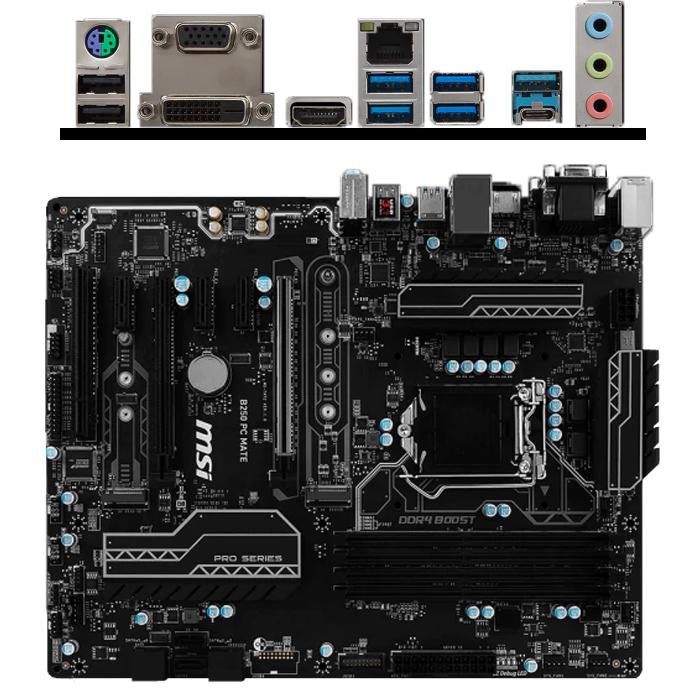 Материнская плата MSI B250 LGA1151 DDR4 ( B250 PC Mate ) ATX, Ret