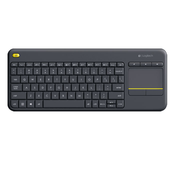 Клавиатура Logitech Wireless Touch Keyboard K400 Plus USB Black ( 920-007147 )