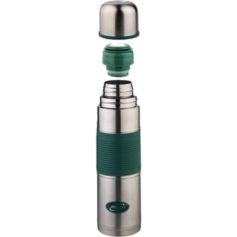 1000NB-P G Термос у/г с силиконовой вставкой зеленый Biostal (1л)
