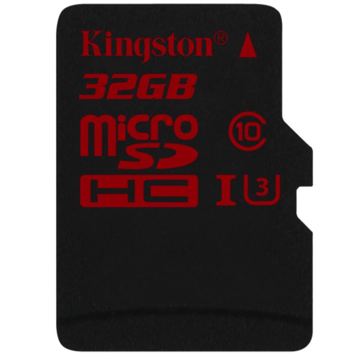 Флеш-карта microSDHC 32Гб Kingston , UHS-1, U3, Class 10 ( SDCA3/32GBSP )