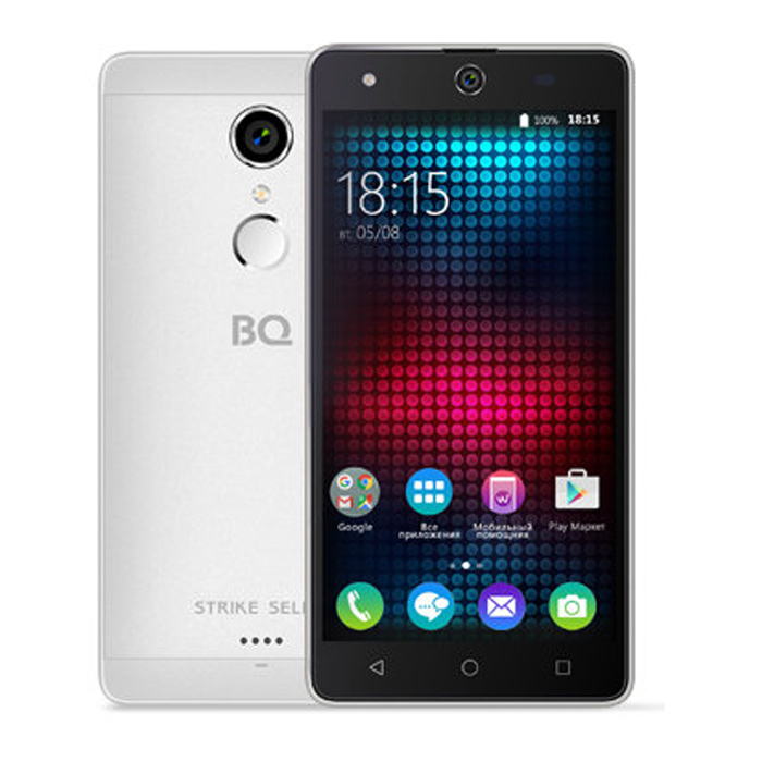 Смартфон BQ Mobile BQS-5050 Strike Selfie Silver