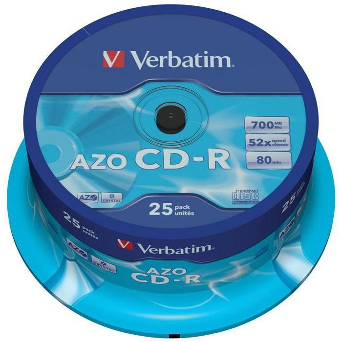 Оптический диск CDR Verbatim DL 700Mb 52x CakeBox (43352) 25шт