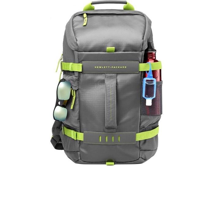 Рюкзак для ноутбука 15.6″ HP Odyssey BP, (L8J89AA#ABB) серый/зеленый