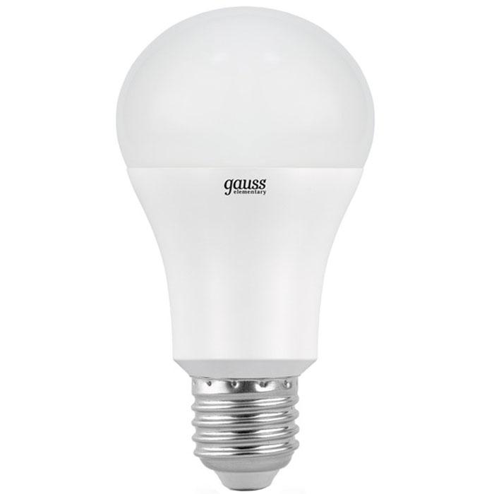 Светодиодная лампа Gauss Elementary A60 E27 15W 220V желтый свет