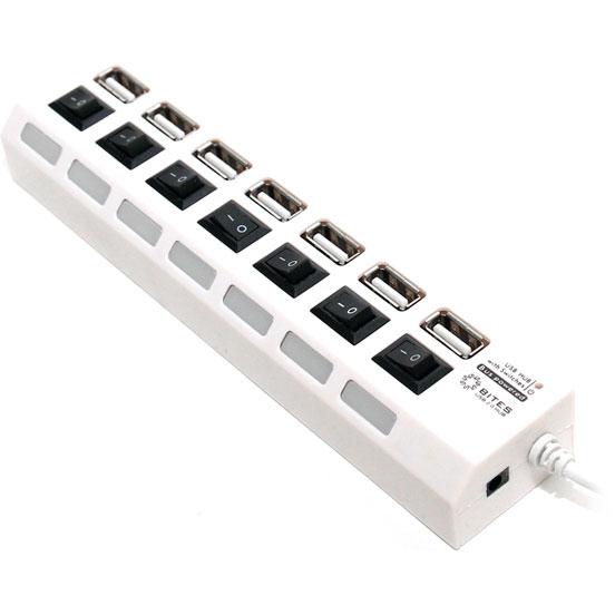 Концентратор USB 2.0 5bites HB27-203PWH 7 ports White