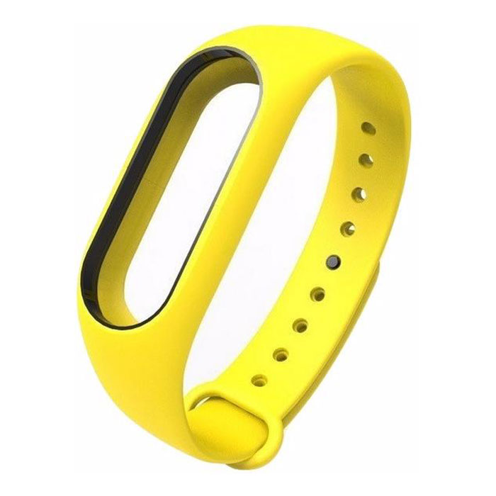 Ремешок для фитнес-браслета Xiaomi Mi Band 2 Silicon yellow