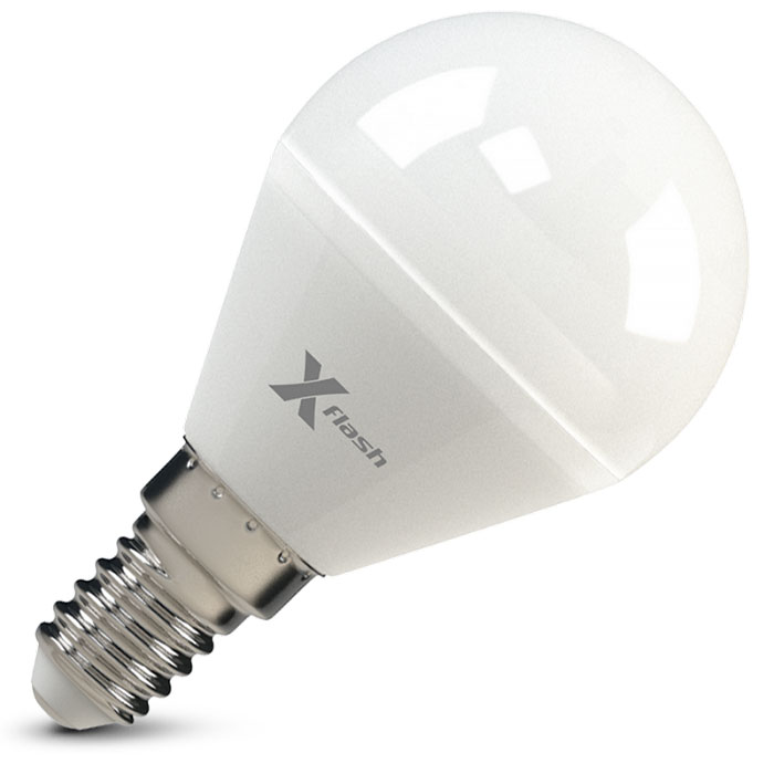 Светодиодная LED лампа X-flash P45 E14 5W 12V желтый свет