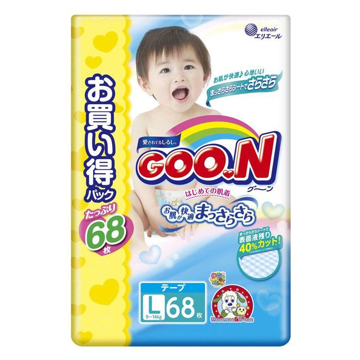 Подгузники Goon Ultra Jumbo Pack 9-14кг (68 шт)
