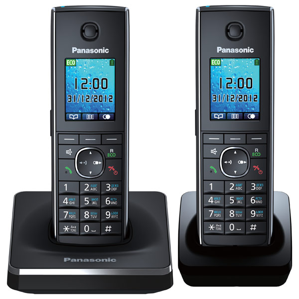 Телефон Dect Panasonic KX-TG8552RUB Black