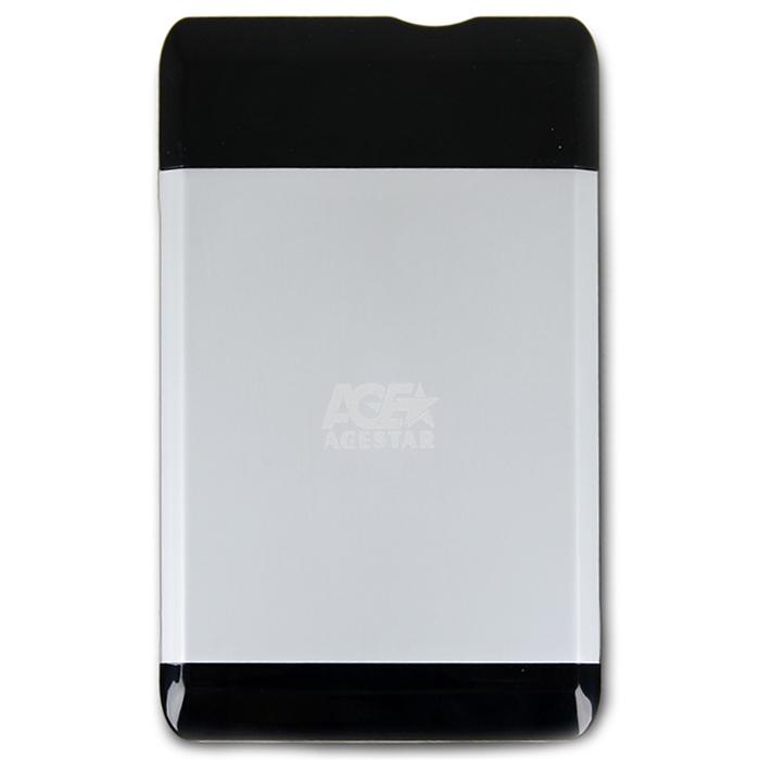 Корпус для HDD 2.5″ SATA-USB2.0 AgeStar SUB2A5 Silver, Alum