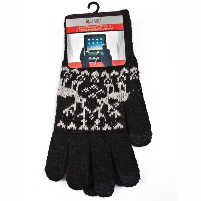 Перчатки для мобильных устройств Liberty Олени, цвет черный, размер S
