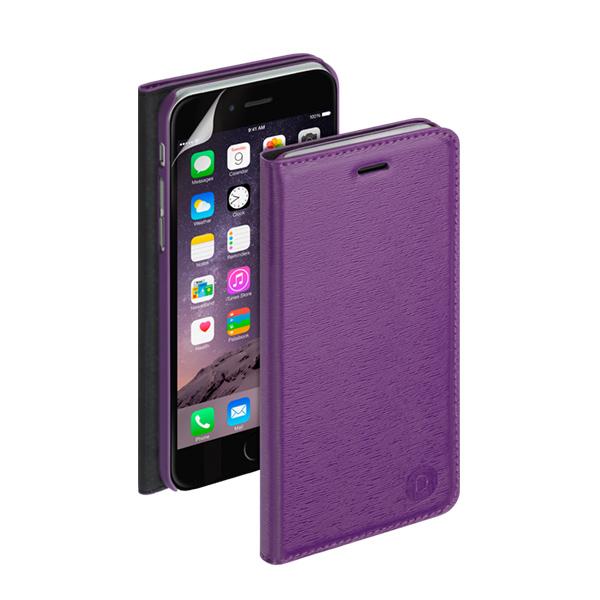 Чехол Deppa Wallet Cover PU с пленкой для iPhone 6 Plus/ iPhone 6s Plus, фиолетовый