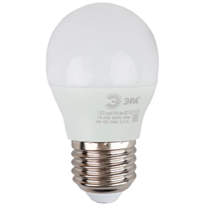 Светодиодная лампа ЭРА P45 E27 6W 220V ECO желтый свет