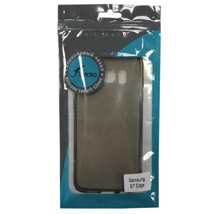 Чехол Gecko silicone case для Samsung G935F Galaxy S7 edge, серая, прозрачно-глянцевый