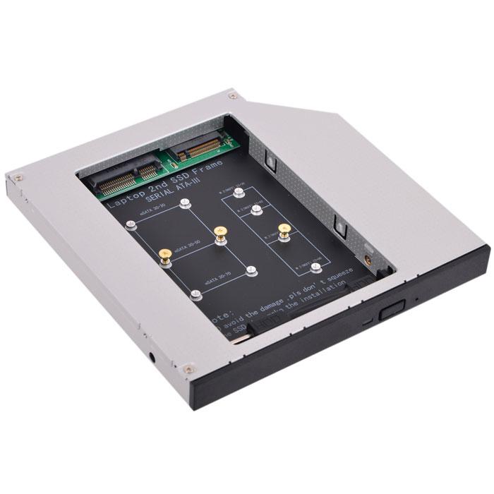 Салазки Espada ( M2MS1295 ) для замены привода в ноутбуке 9,5/12,7мм на NGFF (M.2) SSD (NGFF (M.2) SSD to miniSATA)