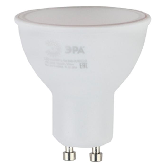 Светодиодная лампа ЭРА MR16 GU10 5W 220V ECO белый свет