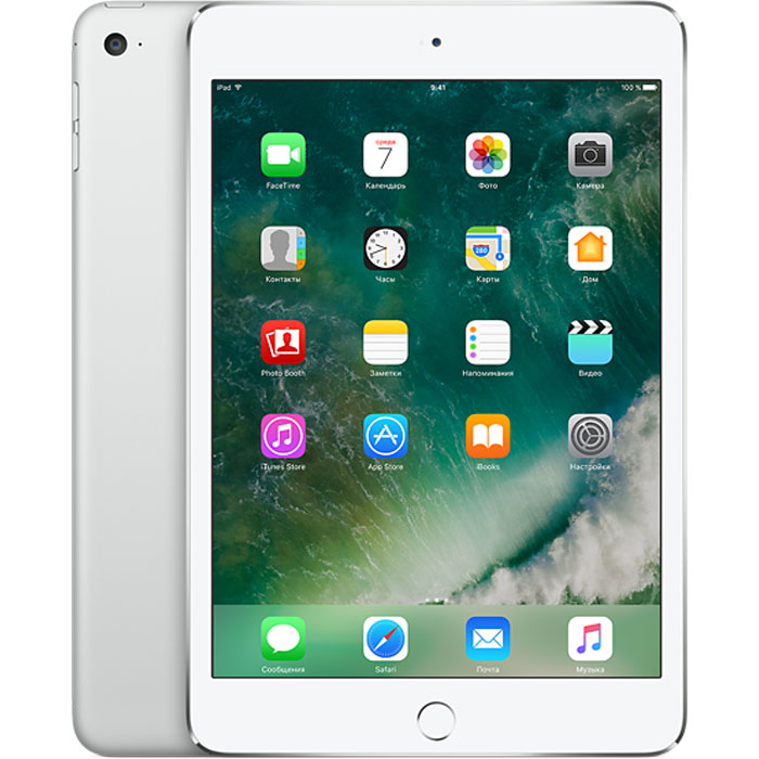 "Планшетный компьютер 7.9"" Apple iPad mini 4, 128Гб Flash, WiFi, Silver (MK9P2RU/A)"