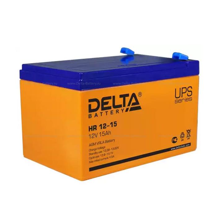 Батарея Delta HR 12-15 (12V 15Ah)