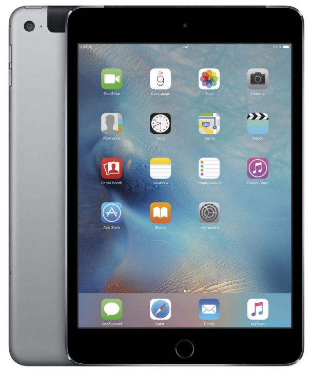 "Планшетный компьютер 7.9"" Apple iPad mini 4, 32Гб Flash, Cellular, Space Gray (MNWE2RU/A)"