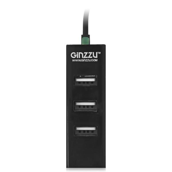 Концентратор USB Hama H-135750 4 порта USB3.0 черный