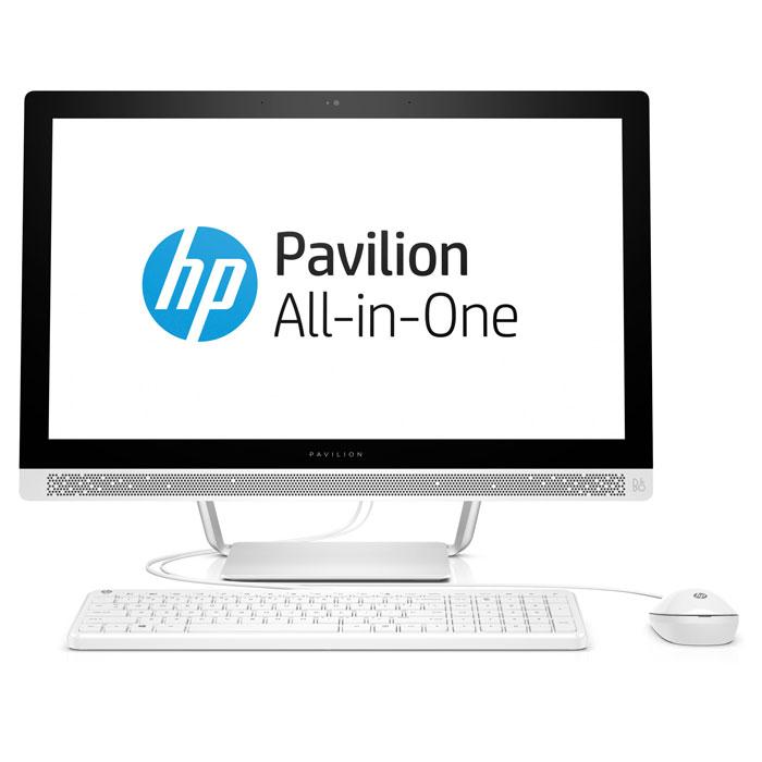 Моноблок HP Pavilion 24-b238ur 24» FullHD Core i3 7100T/8Gb/1Tb+8Gb SSD/DVD/Kb+m/Win10 White ( 1AW93EA )