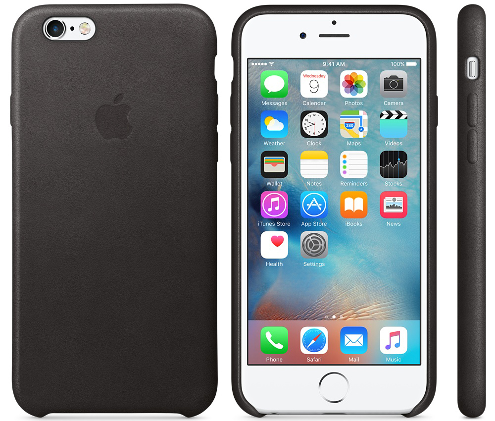 Чехол для Apple iPhone 6 / iPhone 6s Leather Case Black MKXW2ZM/A